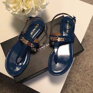 Blue Coach sandals